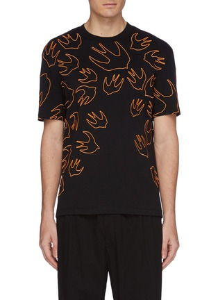 Main View - Click To Enlarge - MCQ ALEXANDER MCQUEEN - 'Swallow Swarm' embroidered T-shirt