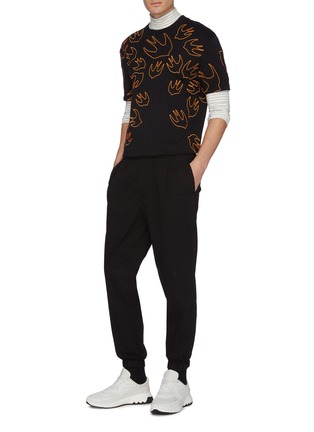 Figure View - Click To Enlarge - MCQ ALEXANDER MCQUEEN - 'Swallow Swarm' embroidered T-shirt