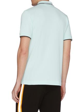 Back View - Click To Enlarge - MCQ ALEXANDER MCQUEEN - Swallow skull appliqué polo shirt