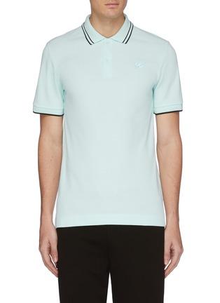 Main View - Click To Enlarge - MCQ ALEXANDER MCQUEEN - Swallow skull appliqué polo shirt