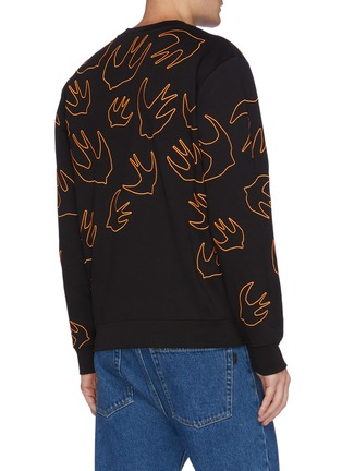 Back View - Click To Enlarge - MCQ ALEXANDER MCQUEEN - 'Swallow Swarm' embroidered sweatshirt