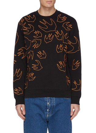 Main View - Click To Enlarge - MCQ ALEXANDER MCQUEEN - 'Swallow Swarm' embroidered sweatshirt