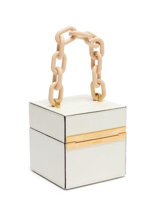 Detail View - Click To Enlarge - OSCAR DE LA RENTA - 'Alibi Cube' leather box bag