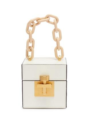 Main View - Click To Enlarge - OSCAR DE LA RENTA - 'Alibi Cube' leather box bag