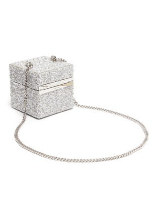 Detail View - Click To Enlarge - OSCAR DE LA RENTA - 'Alibi Cube' embellished box bag
