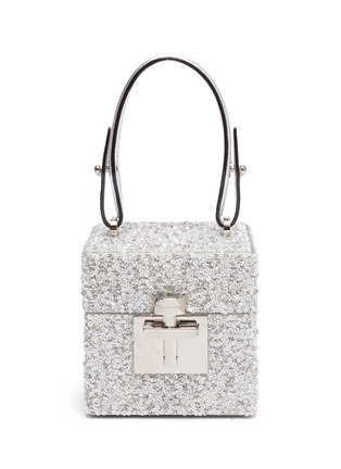 Main View - Click To Enlarge - OSCAR DE LA RENTA - 'Alibi Cube' embellished box bag