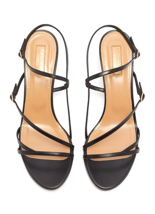 Detail View - Click To Enlarge - AQUAZZURA - 'Carolyne' strappy leather sandals