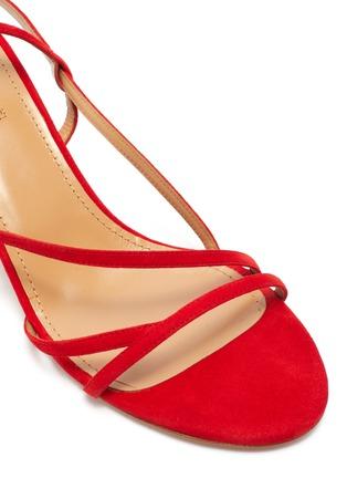 Detail View - Click To Enlarge - AQUAZZURA - 'Carolyne' strappy suede sandals