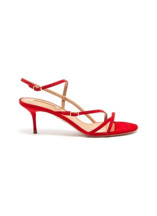 Main View - Click To Enlarge - AQUAZZURA - 'Carolyne' strappy suede sandals