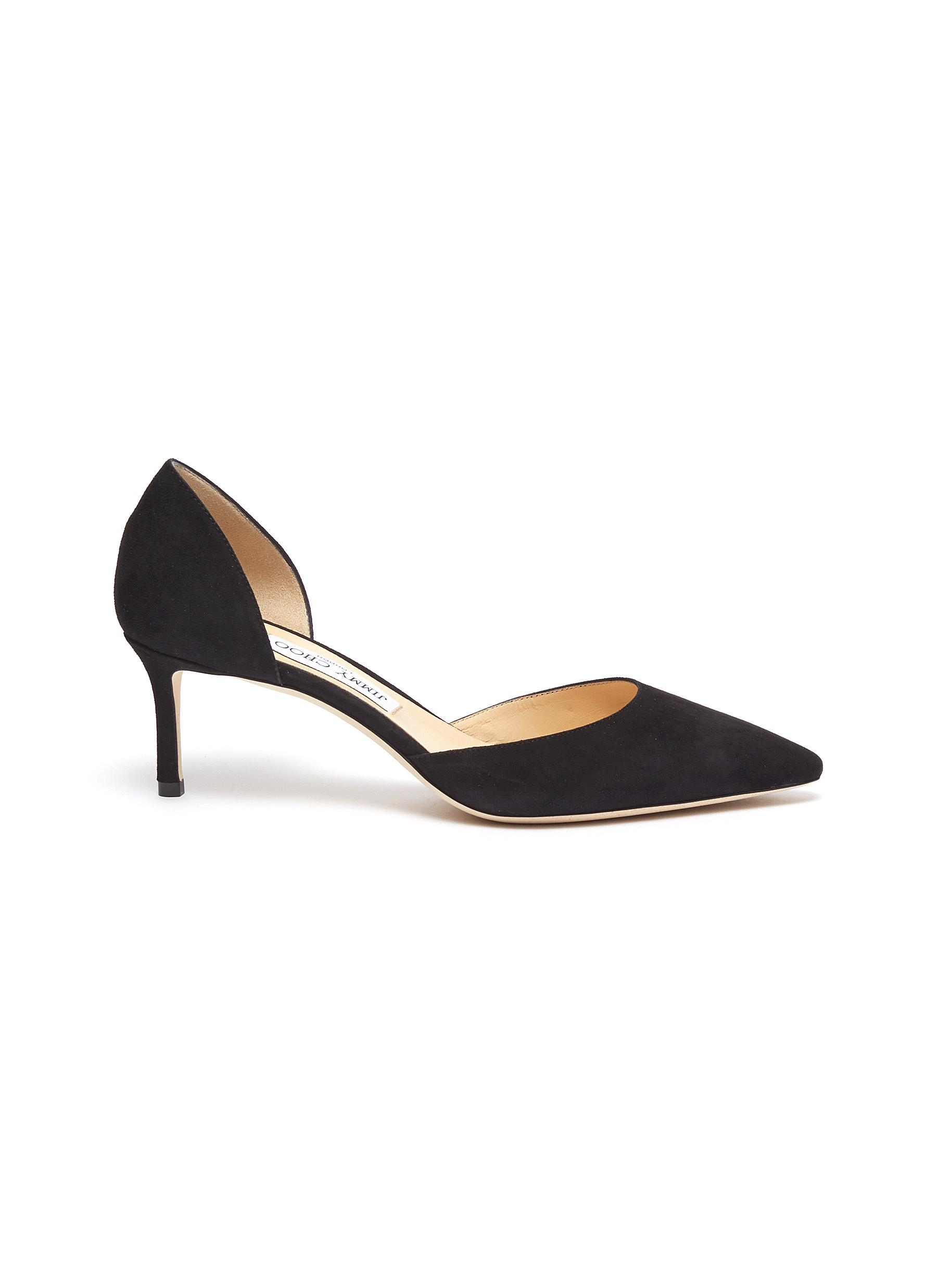 Esther 60 suede dOrsay pumps by Jimmy Choo