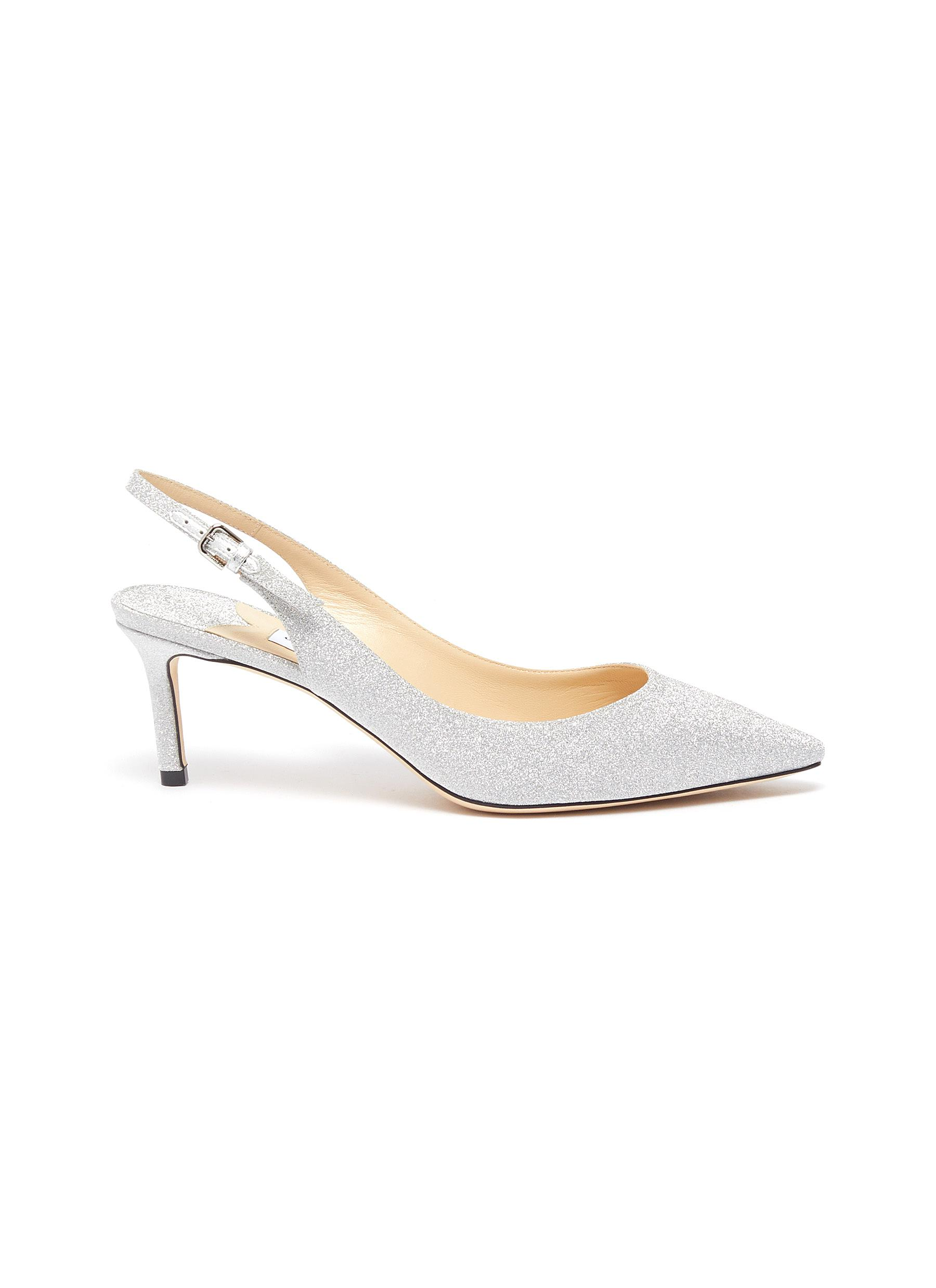 Erin 60 glitter slingback pumps by Jimmy Choo