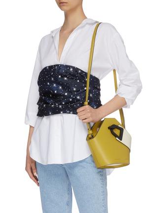Figure View - Click To Enlarge - DANSE LENTE - 'Johnny' mini hexagonal leather bag