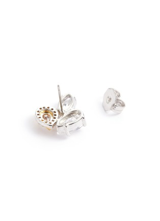 Detail View - Click To Enlarge - CZ BY KENNETH JAY LANE - Cubic zirconia cluster stud earrings