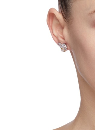 Figure View - Click To Enlarge - CZ BY KENNETH JAY LANE - Cubic zirconia cluster stud earrings
