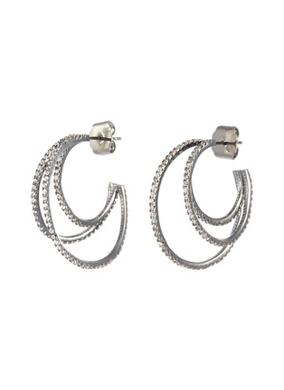 Main View - Click To Enlarge - CZ by Kenneth Jay Lane - Cubic zirconia pavé hoop earrings