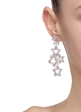 Figure View - Click To Enlarge - CZ BY KENNETH JAY LANE - Cubic zirconia cutout star drop earrings