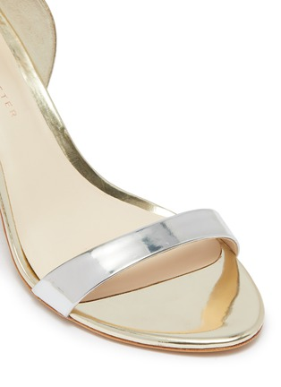 Detail View - Click To Enlarge - SOPHIA WEBSTER - 'Nicole' ankle strap mirror leather sandals