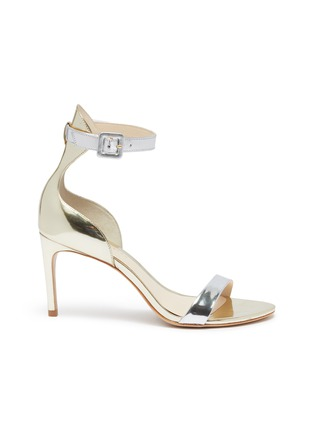 Main View - Click To Enlarge - SOPHIA WEBSTER - 'Nicole' ankle strap mirror leather sandals