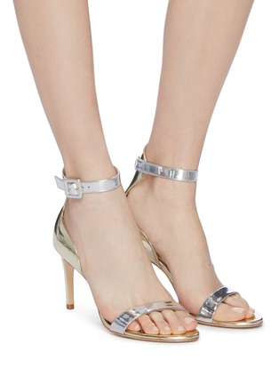 Figure View - Click To Enlarge - SOPHIA WEBSTER - 'Nicole' ankle strap mirror leather sandals