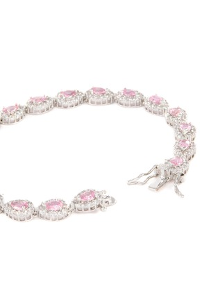 Detail View - Click To Enlarge - CZ BY KENNETH JAY LANE - Cubic zirconia link tennis bracelet