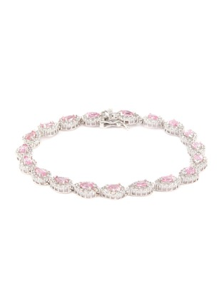 Main View - Click To Enlarge - CZ BY KENNETH JAY LANE - Cubic zirconia link tennis bracelet