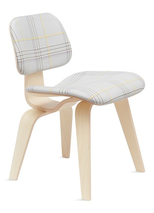 - HERMAN MILLER - x Paul Smith and Maharam Eames moulded chair –Mingled Plaid