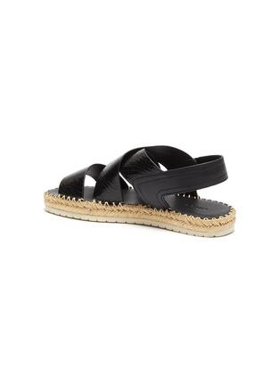 - VINCE - 'Tension' cross strap snake embossed leather espadrille sandals