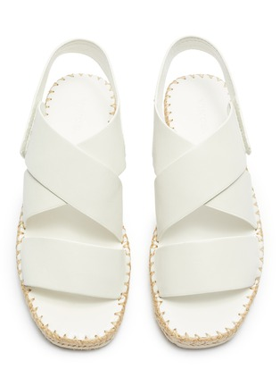 Detail View - Click To Enlarge - VINCE - 'Tension' cross strap leather espadrille sandals