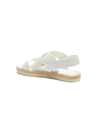 - VINCE - 'Tension' cross strap leather espadrille sandals