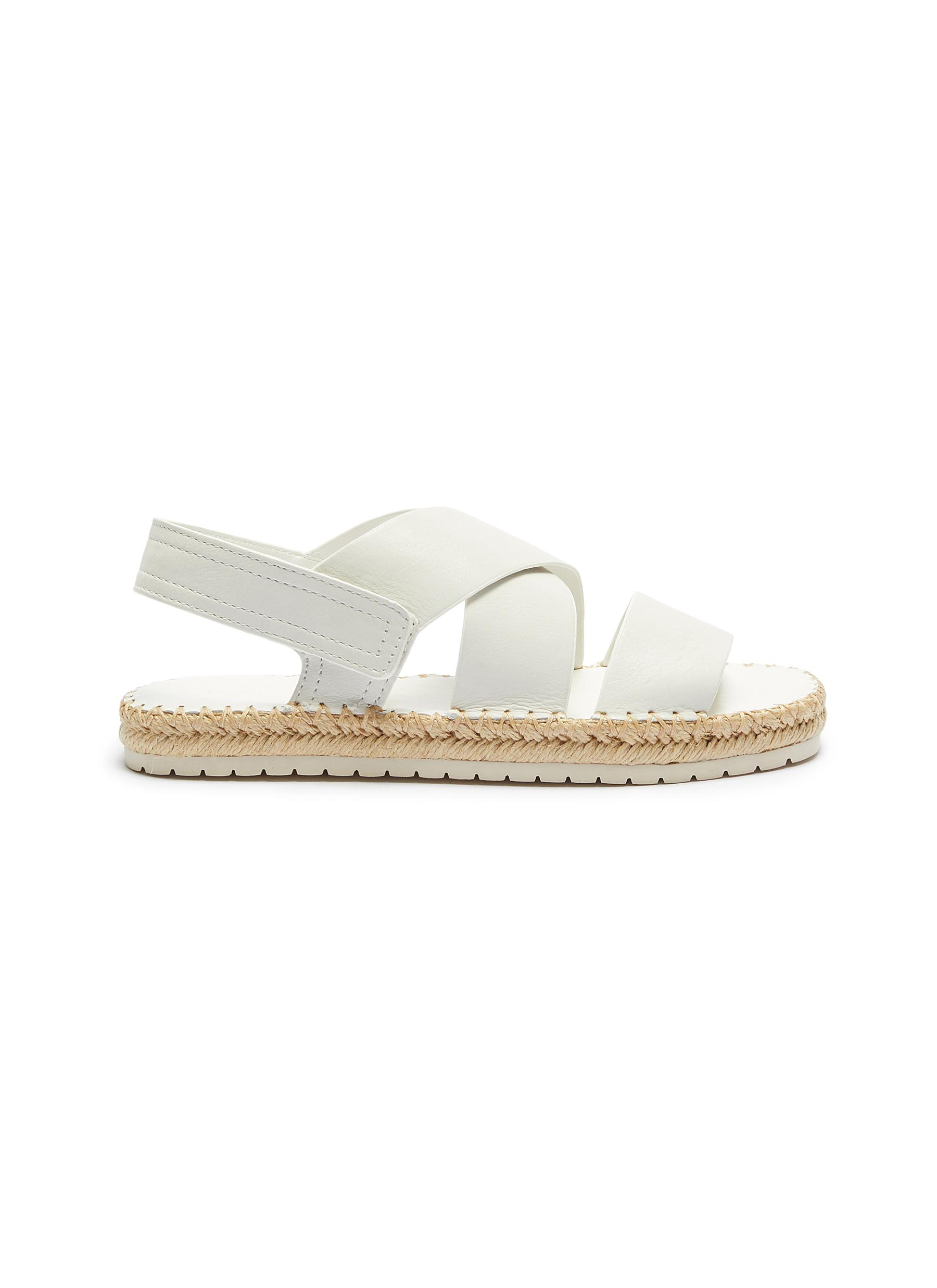 Tension cross strap leather espadrille sandals by Vince