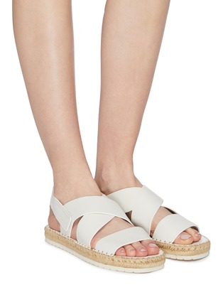 Figure View - Click To Enlarge - VINCE - 'Tension' cross strap leather espadrille sandals