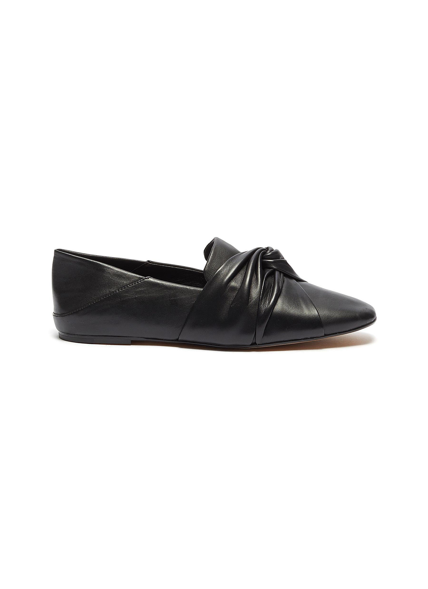 Haddie knotted leather step-in loafers by Vince