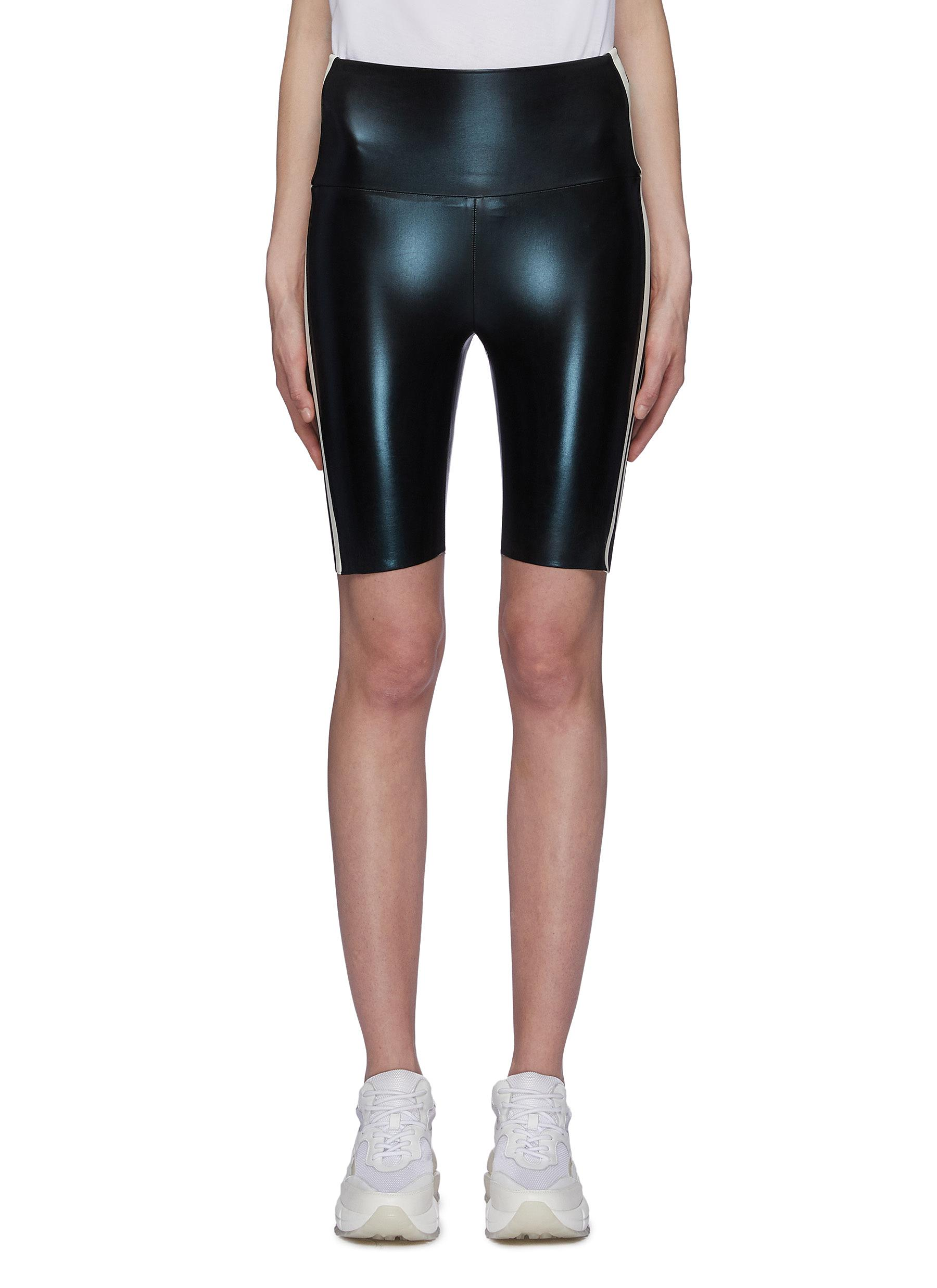 Norma Kamali Shorts Stripe outseam bicycle shorts