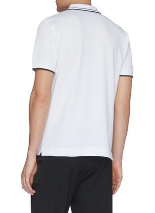 Back View - Click To Enlarge - MCQ ALEXANDER MCQUEEN - Mix appliqué polo shirt
