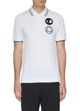 Main View - Click To Enlarge - MCQ ALEXANDER MCQUEEN - Mix appliqué polo shirt
