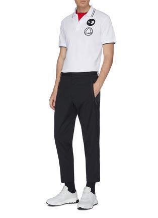 Figure View - Click To Enlarge - MCQ ALEXANDER MCQUEEN - Mix appliqué polo shirt