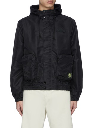 Main View - Click To Enlarge - MCQ ALEXANDER MCQUEEN - 'Rave' logo patch hooded jacket