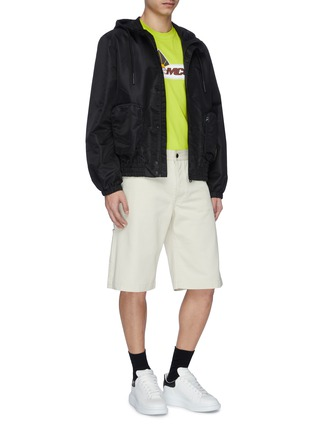 Figure View - Click To Enlarge - MCQ ALEXANDER MCQUEEN - 'Rave' logo patch hooded jacket