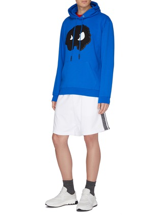 Figure View - Click To Enlarge - MCQ ALEXANDER MCQUEEN - Logo jacquard stripe outseam sweat shorts