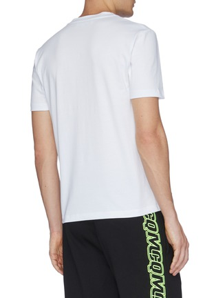 Back View - Click To Enlarge - MCQ SWALLOW - 'Hyper Repeat' logo embroidered T-shirt