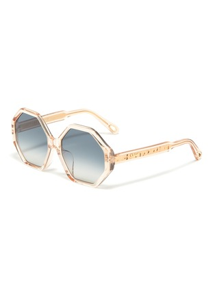 bd90c0bf54db Chloé.  Willow  acetate octagon frame sunglasses