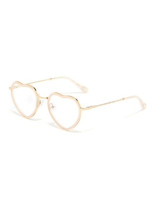 7788ee0cbe5a Chloé. Acetate front metal heart frame optical glasses