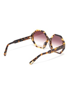 Chloé 'Willow' tortoiseshell acetate octagon frame sunglasses