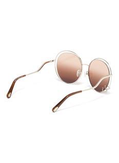 Chloé 'Carlina' cutout metal oversized round sunglasses