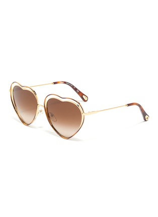 7f3c340ff76e Chloé  Poppy  cutout metal heart frame sunglasses