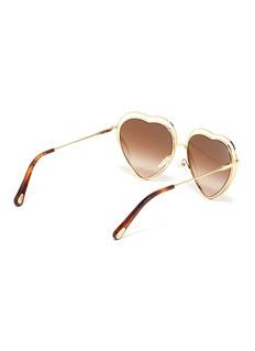 Chloé 'Poppy' cutout metal heart frame sunglasses