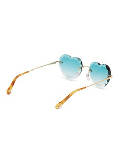 Chloé 'Rosie' rimless metal heart frame sunglasses