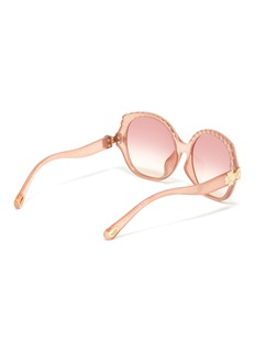 Chloé Acetate scalloped oversized round sunglasses