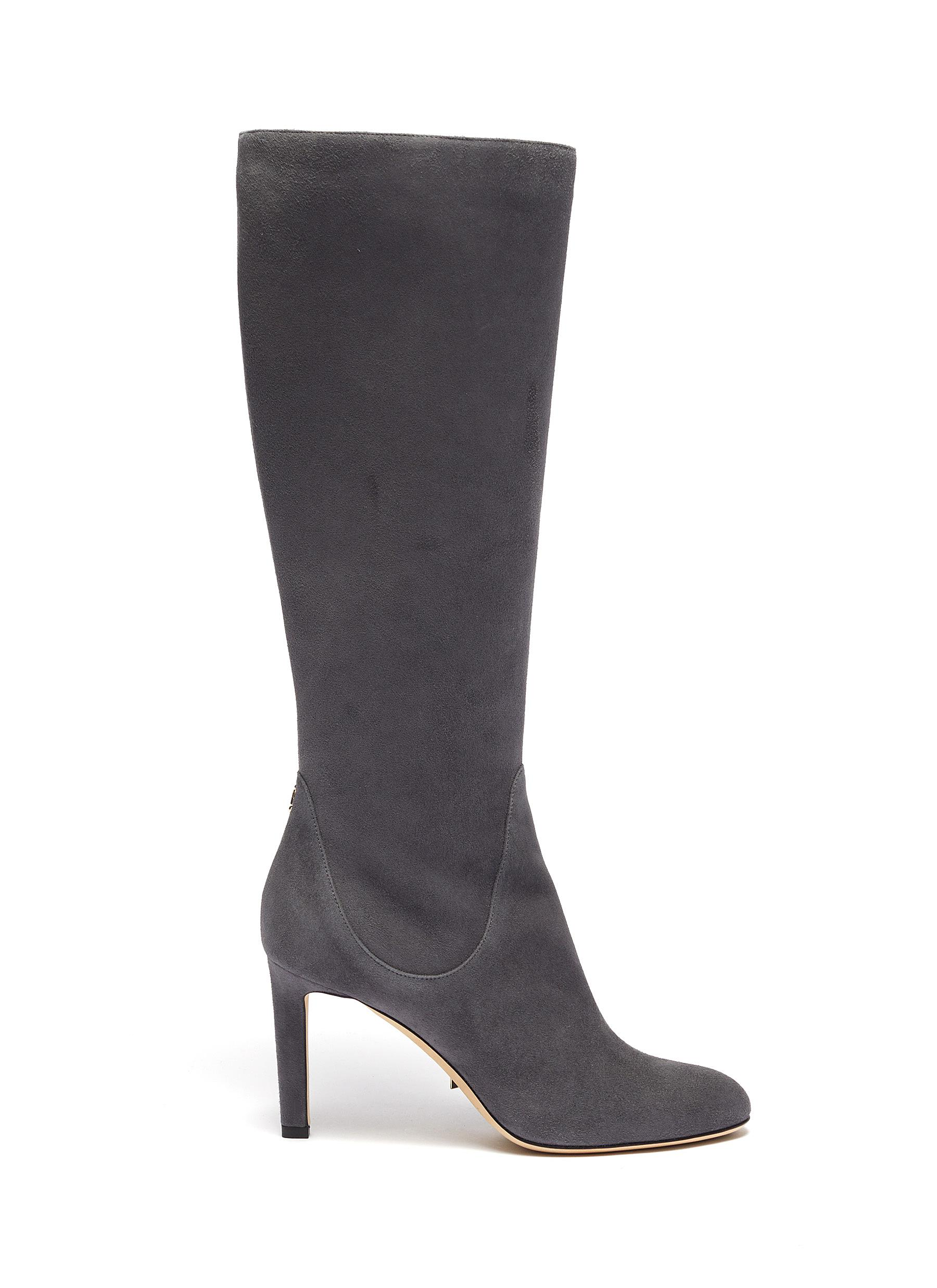 Tempe 85 suede knee high boots by Jimmy Choo