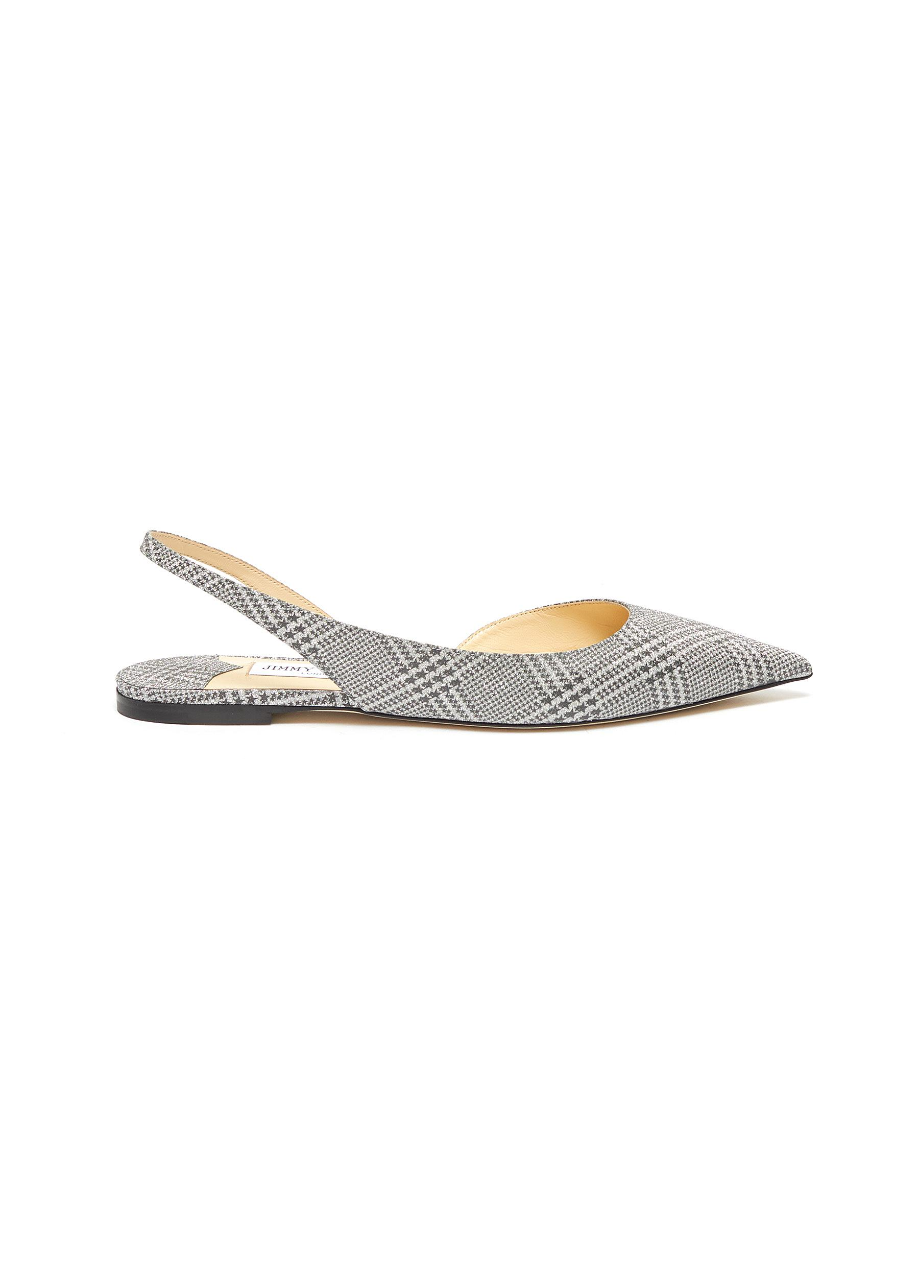 Fetto Prince Of Stars print houndstooth slingback flats by Jimmy Choo